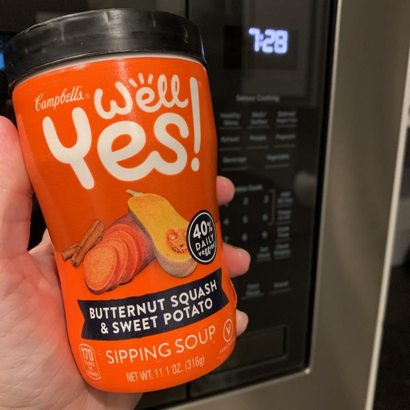 6 pack) Campbell's Well Yes! Sipping Soup, Butternut Squash & Sweet Potato,  11.1 oz. Cup - Walmart.com - Walmart.com