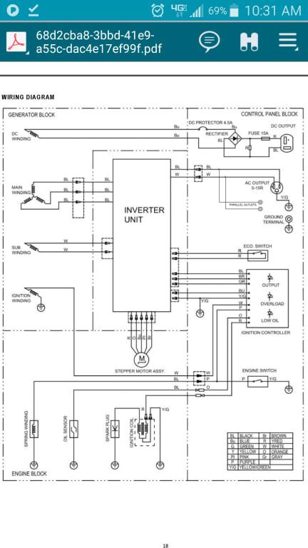 Sportsman 1000 Watt Inverter Generator - Not CARB Approved - Walmart.com -  Walmart.com   Sportsman Generator Wiring Diagram      Walmart