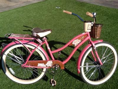 4bf787ab725 26 Huffy Panama Jack Women S Cruiser Bike Pearl Pink Walmart Com