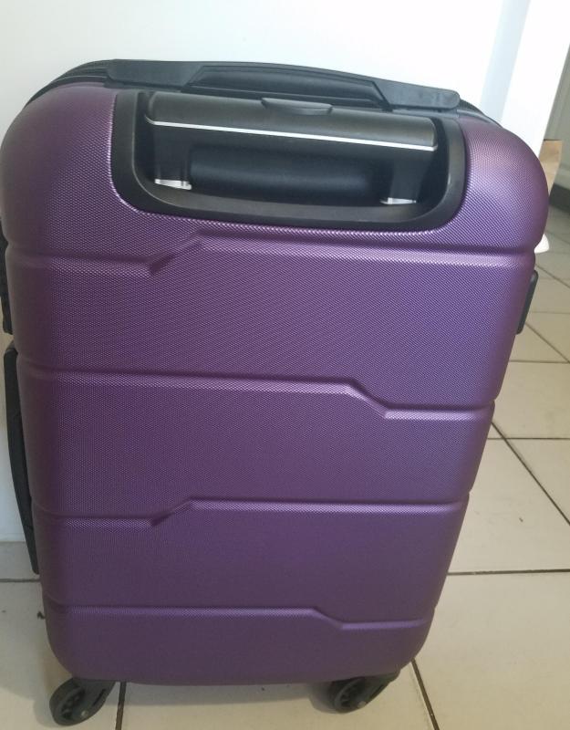One Size Ed Heck Multi Love Birds Hardside Spinner Luggage 21 Inch Light Purple