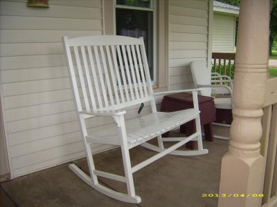 Amazing Mainstays Outdoor 2 Person Double Rocking Chair Walmart Com Onthecornerstone Fun Painted Chair Ideas Images Onthecornerstoneorg