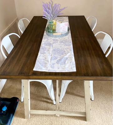 Better Homes And Gardens Collin Wood And Metal Dining Table Walmart Com Walmart Com