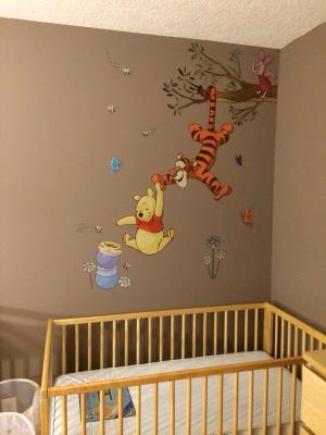 Winnie The Pooh Swinging For Honey L And Stick Giant Wall Decals