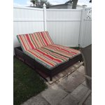 Mainstays Outdoor Double Chaise Lounge Bench Multi Color