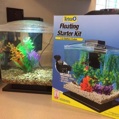 tetra 1 5 gallon cube aquarium starter kit walmart com