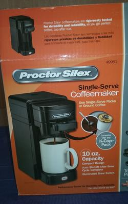 Kitchen & Dining Coffee, Tea & Espresso Proctor Silex 49961C Single Serve Coffeemaker