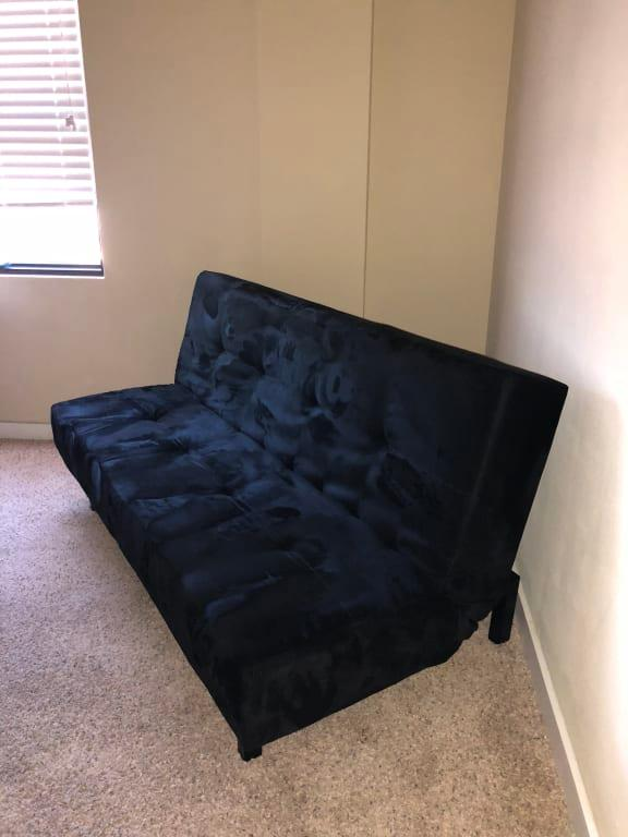 Mainstays 65 3 Position Tufted Futon Black