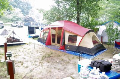 bbc0da06ab Ozark Trail 10-Person 3-Room Vacation Tent with Shade Awning - Walmart.com