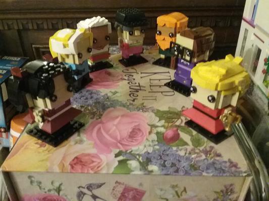 Lego X10 Bright Light Orange Rose Flower Friends Garden Roses Parts Lot City