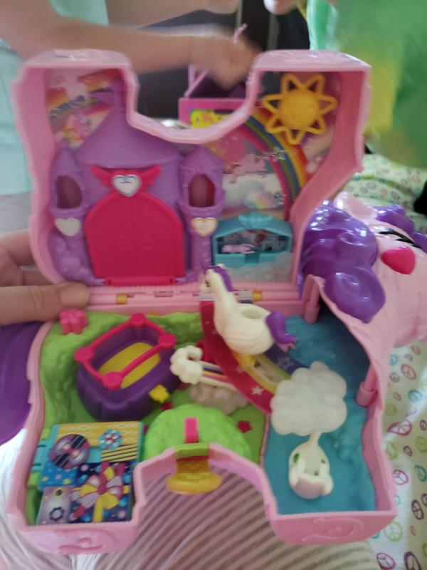 Polly Pocket Unicorn Party Large Compact Playset 25 Surprises New 2020 Toy Gift