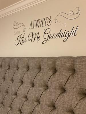 Always Kiss Me Goodnight Peel Stick Wall Decals Walmart Com Walmart Com