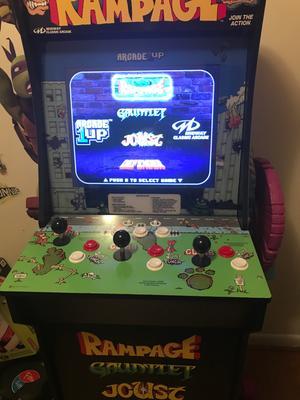 Rampage Arcade Machine, Arcade1UP, 4ft - Walmart com