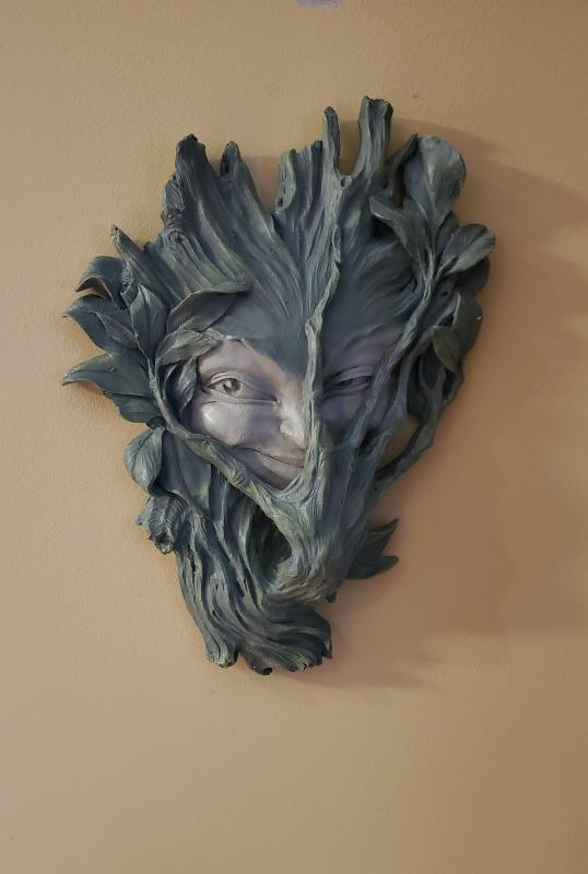 Design Toscano Bashful Wood Sprite Wall Sculpture