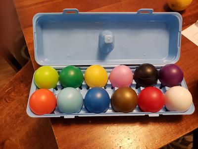 JOJOZZ Musical Egg Maracas Egg Shaker Set con 6 unidades