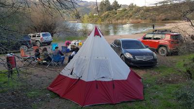 various colors e7b21 ea00f Ozark Trail 7 Person Teepee Tent