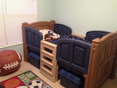 Step2 Toddler Storage Loft Bed Twin Blue Brown Walmartcom