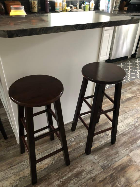 Prime Winsome Wood Pacey 29 Bar Stools Set Of 2 Walnut Ibusinesslaw Wood Chair Design Ideas Ibusinesslaworg