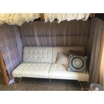 Dhp Emily Convertible Futon Sofa Couch Gray Linen