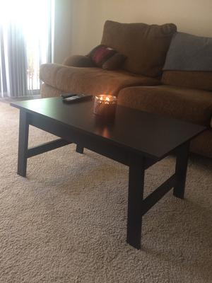 Mainstay Coffee Table.Mainstays Coffee Table Black Oak Finish Walmart Com