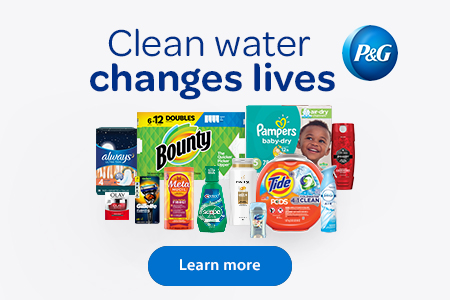 P&G – Clean water changes lives – Learn more