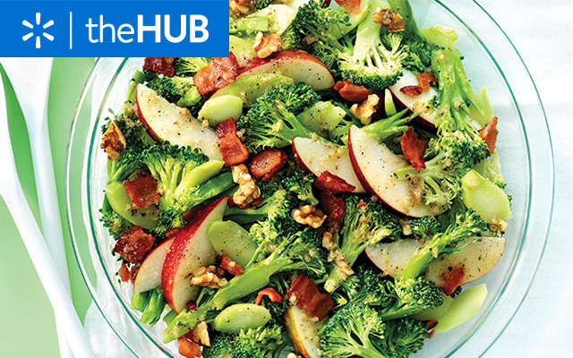 Apple, bacon & broccoli salad