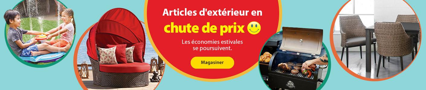 Articles d'extérieur en chute de prix - Les économies estivales se poursuivent. - Magasiner