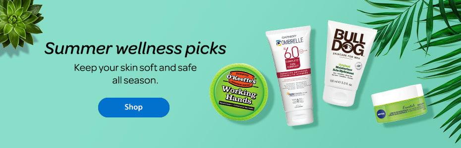 Summer wellness picks - Keep your skin soft and safe all season. - Shop