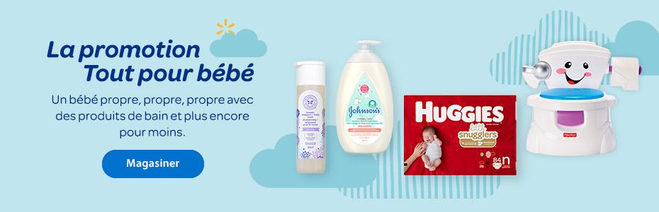 La promotion Tout pour bébé. Un bébé propre, propre, propre avec des produits de bain et plus encore pour moins. - Magasiner