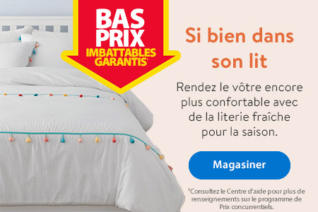 Bas prix imbattables garantis. Si bien dans son lit. Rendez le vôtre encore plus confortable avec de la literie fraîche pour la saison. - Magasiner