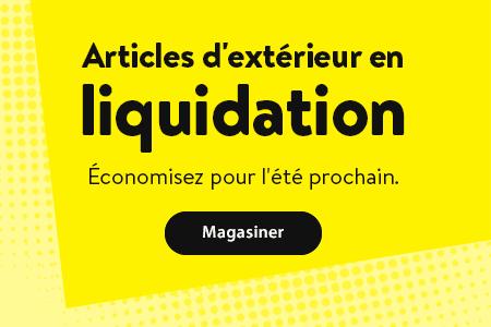 Articles d'extérieur en liquidation. Économisez pour l'été prochain. - Magasiner