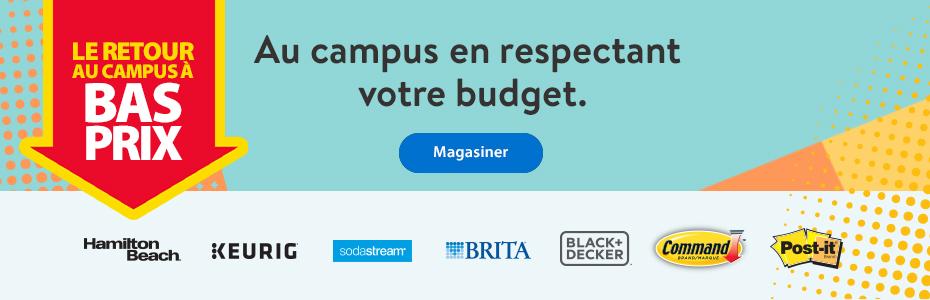 Le retour au campus à bas prix – Au campus en respectant votre budget. – Magasiner   Hamilton Beach   Keurig   Sodastream   Brita   Black + Decker   Command   Post-it