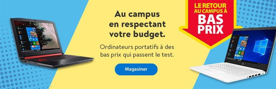 La retour au campus à bas prix - Au campus en respectant votre budget. Ordinateurs portatifs à des bas prix qui passent le test. - Magasiner