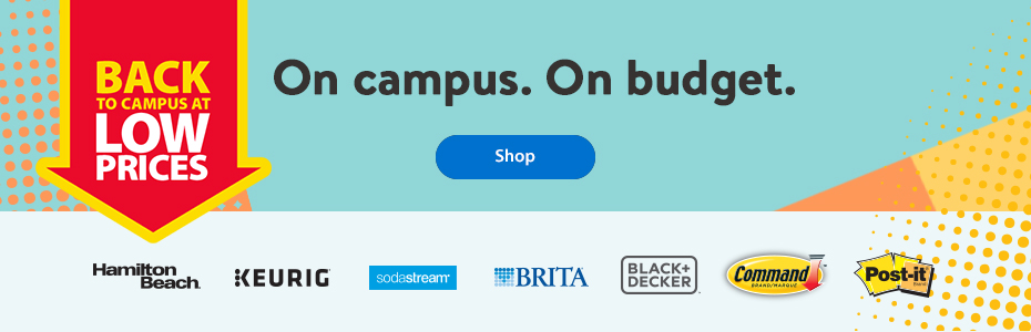 Back to campus at low prices – On campus. On budget. – Shop | Hamilton Beach | Keurig | Sodastream | Brita | Black + Decker | Command | Post-it
