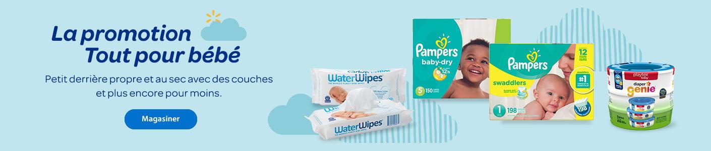 La promotion Tout pour bébé. Petit derrière propre et au sec avec des couches et plus encore pour moins. - Magasiner
