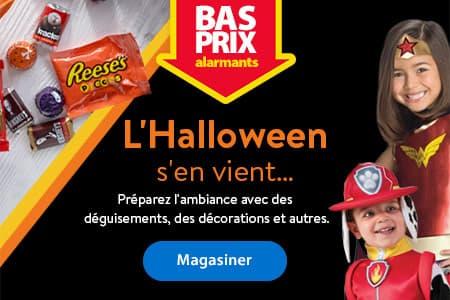Des BAS PRIX effrayants. L'Halloween s'en vient... Préparez l'ambiance avec des déguisements, des décorations et autres.  -  Magasiner
