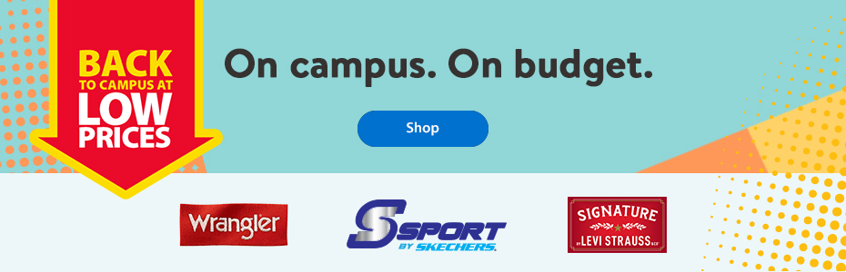 Back to campus at low prices – On campus. On budget. – Shop | Wrangler | Skechers | Signature Levi Strauss