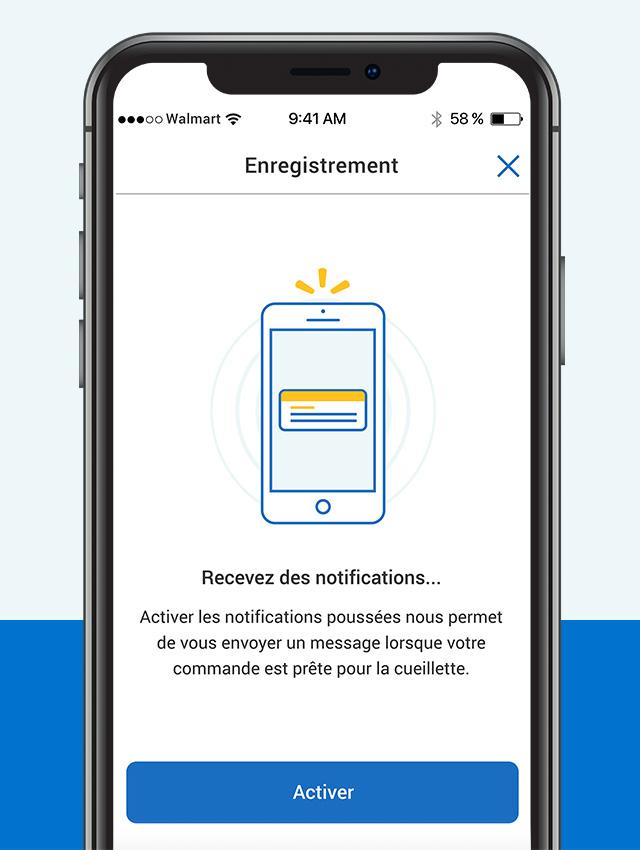 Activez les notifications poussées