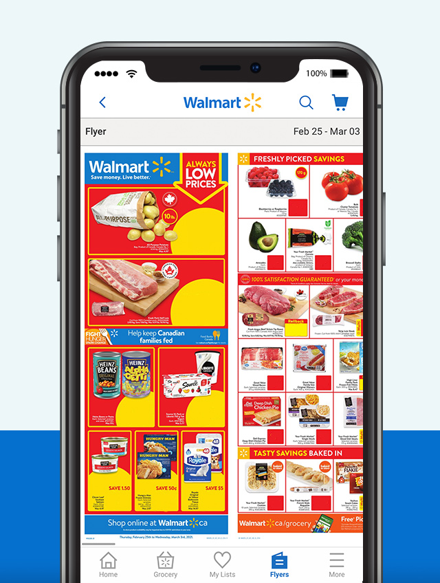 Weekly flyer access - Easily stay on top of weekly flyer features when you're on the go.
