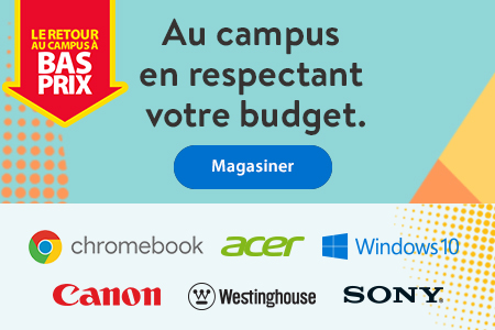 Le retour au campus à bas prix – Au campus en respectant votre budget. – Magasiner | Chromebook | Acer | Windows 10 | Canon | Westinghouse | Sony