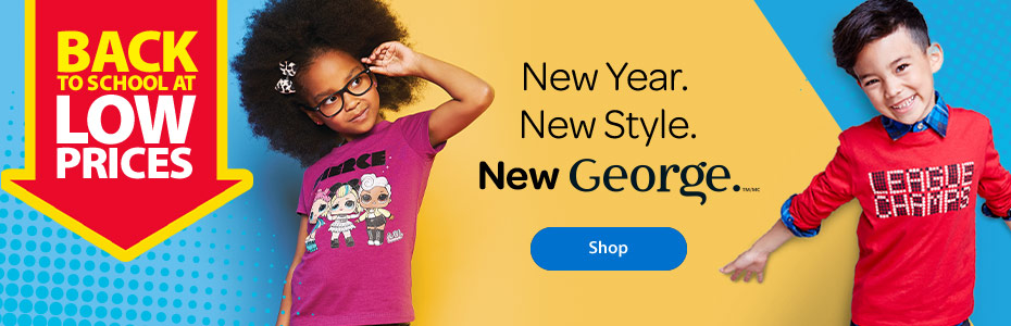 Back to school at low prices - New year. New style. New George. - Shop