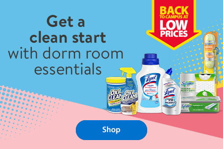 Back to campus at low prices – Get a clean start with dorm room essentials – Shop